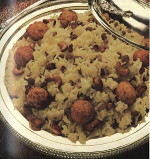 Шафрановый рис с сырными шариками